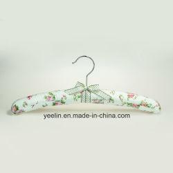 サテンによってパッドを入れられるハンガーの花によって印刷されるハンガー(YL-yf03)