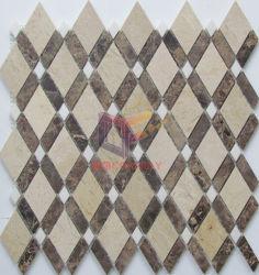 Темный Эмперадор со сливками ромба использованием мозаики пола плиткой (СГК1086)