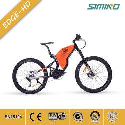 В полной мере центральной подвески двигателя MTB велосипеда с электроприводом