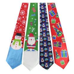 Unisexe Stock multi modèles imprimés Partie Festival cravate de Noël Cadeaux