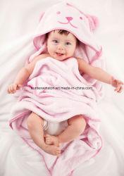 Alta Quanlity Confortable suave 100% algodón 75*75cm Baby Toalla con capucha Toalla de baño del bebé
