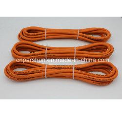 5/16 de pulgada (8mm) de alta calidad en color naranja del tubo de gas de caucho flexible
