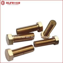 Bronze fosforoso cobre latão DIN933 DIN931 Parafuso Sextavado