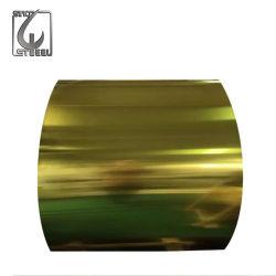 La couleur de peinture laque d'Or Fer blanc pour les paquets de métal