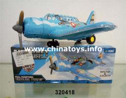 cadeau de promotion de l'éclairage des jouets B/O Avion jouet (320418)
