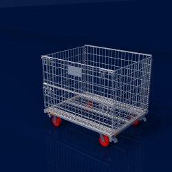 Le transport de marchandises bon marché de stockage de préformes PET galvanisé cage de treillis métallique