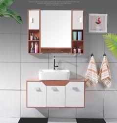Un estilo moderno cuarto de baño de PVC de la vanidad de armario con espejo 8109