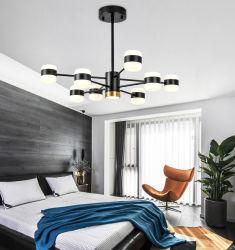 Оптовая торговля черную крышку 40W Hotel металлические гостиной Multihead утюг форму для использования внутри помещений современная люстра потолочный декоративные LED подвесной светильник