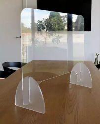 Scheda di plastica di isolamento della placca di diaframma di starnuto dello schermo acrilico staccabile su ordinazione della protezione protettiva