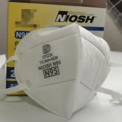 Niosh FDA americano certificadas Foldabe Respirador 5 Camadas máscara N95