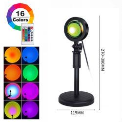 RGB リモートコントローラコーフルサンセットランプ 1 個、ライト 16 色