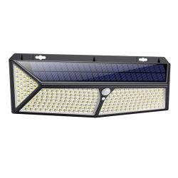 2020 288 super brillante LED paneles solares PIR Sensor de movimiento de la luz de pared LED de exterior con un cargador USB