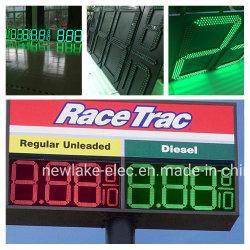 Segment vert LED pour panneau d'affichage des prix du pétrole gaz 8.889/10 24 pouces de la station