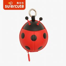 Ladybug 모양 키 코인 홀더, 도매 핸드키 코인 지갑, 3D 큐트 저장 백