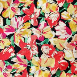 衣服のための卸し売り45%高性能の印刷された格子縞様式55%の麻布のレーヨンファブリック