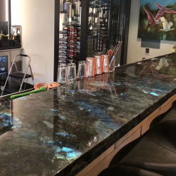 Labradorite Bleu/Quartz/Marbre Granit/Semi-Precious comptoir en pierre de cuisine