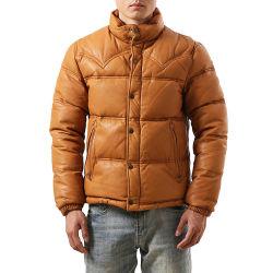 Precio de Venta Directa de Fábrica de cuero de oveja de piel de cabra Duck Down Jacket para hombres