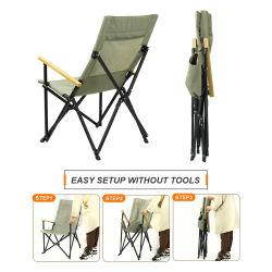 알루미늄 의자 휴대용 접이식 캠핑 접이식 낚시 해변 의자