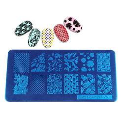 2020 DIY Nail belleza Material metálico de acero inoxidable Diseño Nail Art sello estampado el sello polaco de las placas Nail placa