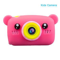Nueva llegada Cute Kid's pantalla HD de dibujos animados de la cámara de 18 mega píxeles niños Ilustración Foto Regalo de Cumpleaños de juguete de la cámara digital de vídeo