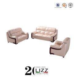 China fábrica de muebles de oficina de promoción de la Sala Pure sofá de cuero