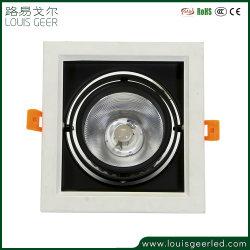 Garantie de 5 ans Square 12W COB LED Spot encastré de lumière vers le bas LED Lampe à économie d'énergie de lumière de la calandre