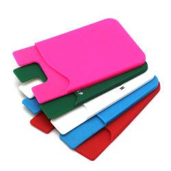 Cartão de telefone móvel de silício de PVC Titular de cartão de silício personalizado Wallet