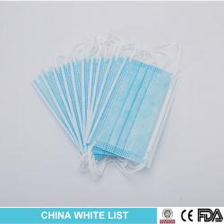 ce/중국 백색 명부에 의해 증명되는 도매 3개 가닥 짠것이 아닌 처분할 수 있는 외과/의학 가면