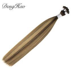 Denghao أفضل سعر 100% الهندي ريمي الشعر الطبيعي ارتفاع مستقيم Weft مربوط باليد من نوعية جيدة
