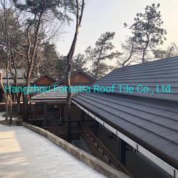 سقف بألواح تزيينية أسعار الفلبين بناء مادة الحجر سقف صلب مطلي بالألواح الفولاذية للفيلا