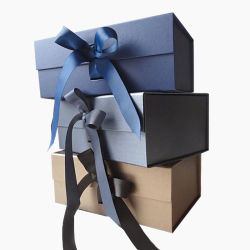 2021 Papel Negro Caja de regalo personalizado Embalaje de papel negro caja cajas de cartón de embalaje monedero