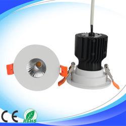 5W 7W 10W 15W 75W à intensité variable en aluminium découpe LED spot ampoule lampe de plafond COB Downlight