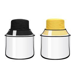 Neuer Form-Fischer-Hut mit Gesichts-Schild für Frauen-entfernbarer freier volles Gesichts-Schild-Antispeichelim freiensun-Hut-Wannen-Hüte