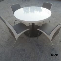 La Ronda de alto brillo blanco encimera de mármol blanco moderna mesa de café