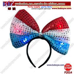 머리 보석 LED는 불이 켜진다 깃발 활 머리띠 당 Hairband 당 훈장 참신 기술 (P2014)를