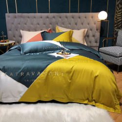 Домашний текстиль в современном стиле кровать лист комбинированного использования красочные гладкой 100% хлопок двуспальной кроватью
