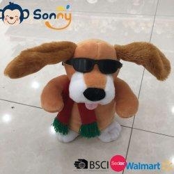 선물 개 장난감이 채워진 음악을%s 가진 귀 개를 동요하는 중국 공장 견면 벨벳 장난감에 의하여 농담을 한다
