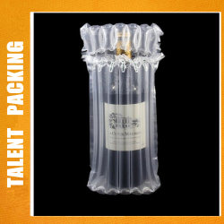 750 ml de vinho garrafas de vidro plástico Sacos de coluna de bolhas de ar