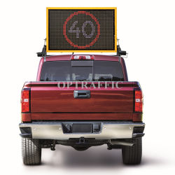 19m monté sur véhicule Affichage LED de VMS Panneau monté sur le Toit Voiture VMS Message Board