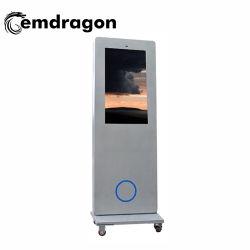 Exibição de publicidade digital Air-Cooled Tela Vertical máquina de publicidade exterior do Piso 2 LED de 32 polegadas LED Digital Signage Player de anúncio