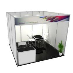 Facilement assemblés en aluminium aluminium personnalisé Stand d'exposition à l'éclairage stand