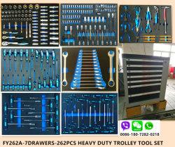 7drawersエヴァのパッキング(FY262A)の頑丈なトロリー工具セット