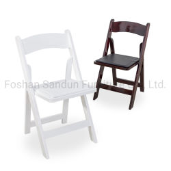 강하고 튼튼한 옥외 결혼식 가구 수지 단단한 나무 Wimbledon 접는 의자