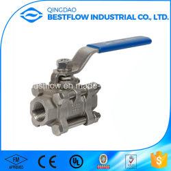 Aço inoxidável/1000wog Aço Carbono/2000wog 1PC/2PC/3PC/soldadura topo a topo roscado/soquete/Válvula de Esfera Flangeadas