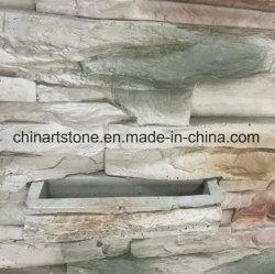 Cultura artificial de piedra con maceta para decoración de azulejos de pared