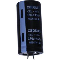 Original 450V330UF capacitor eletrolítico de fornecedor, Alumínio capacitor eletrolítico de equipamentos de produção