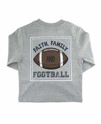 Peu de vêtements pour bébés garçons foi, de la famille du sud de la signature de football Graphic Tee de poche