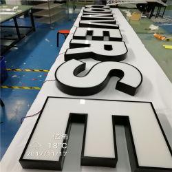Encendido frontal acrílico letreros luminosos LED letras de canal estándar