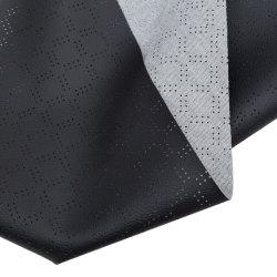 Fabricante OEM patrón perforado Faux PVC Tela/Cuero artificial PU Cubierta de asiento de coche Sofá accesorios interiores