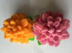 二重側面のスキンケアの柔らかい浴室の花のスポンジ